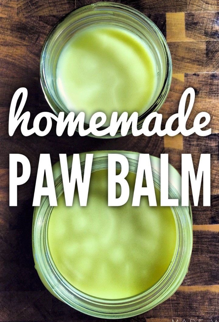 Homemade Dog Paw Balm
