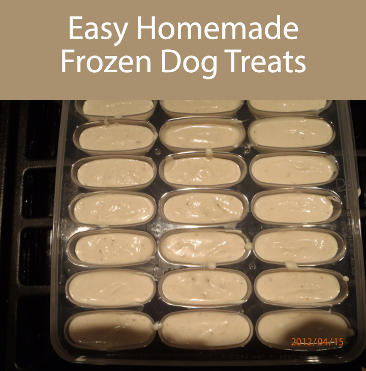 Frozen Banana Treats For Dogs
